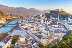 Salzburg (Österrike) centra Royaltyfri Bild