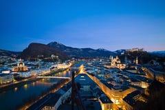 Salzburg Österrike, cityscape Arkivfoto