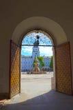 Salzburg Österrike - Maj 01, 2017: Centralt ställe i den Salzburg staden Royaltyfria Foton