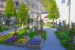 Salzburg Österrike - Maj 01, 2017: Hohensalzburg fästning, Salzburg på Österrike Royaltyfria Foton