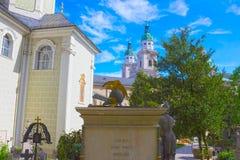 Salzburg Österrike - Maj 01, 2017: Hohensalzburg fästning, Salzburg på Österrike Arkivbild