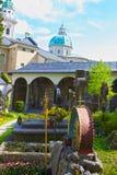 Salzburg Österrike - Maj 01, 2017: Hohensalzburg fästning, Salzburg på Österrike Royaltyfri Foto