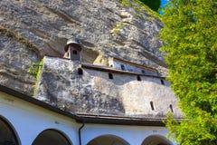Salzburg Österrike - Maj 01, 2017: Hohensalzburg fästning, Salzburg på Österrike Fotografering för Bildbyråer
