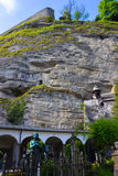 Salzburg Österrike - Maj 01, 2017: Hohensalzburg fästning, Salzburg på Österrike Royaltyfria Bilder