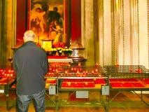 Salzburg Österrike - Maj 01, 2017: Inre av den Salzburg domkyrkan - detaljer Arkivfoton