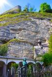 Salzburg Österrike - Maj 01, 2017: Kyrkogården för St Peter ` s på Salzburg Royaltyfri Foto