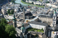 Salzburg. View on historical center of Salzburg from the top (Salzburg, Austria Stock Image