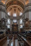 SALZBURG/AUSTRIA - 19 ΣΕΠΤΕΜΒΡΊΟΥ: Εσωτερική άποψη του Σάλτζμπουργκ Cath στοκ εικόνες με δικαίωμα ελεύθερης χρήσης