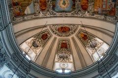SALZBURG/AUSTRIA - 9月19日:天花板的看法在Salzbur 免版税库存图片