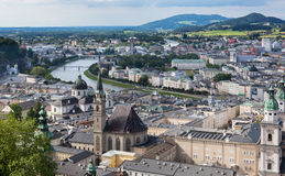 Salzburg Austria from Above Stock Images