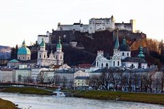 Salzburg, austria, cityscape Royalty Free Stock Photos