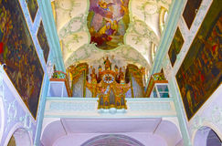Salzburg, Austria - 1 de mayo de 2017: Interior de Peter Abbey Church del santo Fundado en 696 se considera uno del más viejo Imagenes de archivo