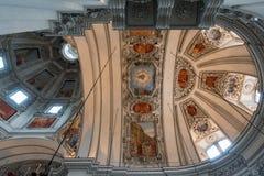 SALZBURG/AUSTRIA - 19 DE SEPTIEMBRE: Vista del techo en Salzbur imágenes de archivo libres de regalías