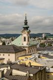 View on Salzburg roofs and bell tower Stock Images