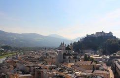 Salzburg, Austria. Hohensalzburg Fortress and panorama view of Salzburg, Austria Stock Photo
