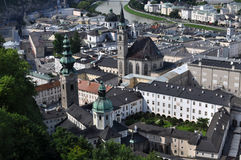 Salzburg, Austria. Salzburg (literally: Salt Fortress) is the fourth-largest city in Austria and the capital of the federal state of Salzburg. Salzburg's Old Royalty Free Stock Photography
