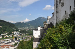Salzburg, Austria. Salzburg (literally: Salt Fortress) is the fourth-largest city in Austria and the capital of the federal state of Salzburg. Salzburg's Old Stock Image