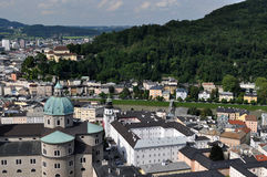 Salzburg, Austria. Salzburg (literally: Salt Fortress) is the fourth-largest city in Austria and the capital of the federal state of Salzburg. Salzburg's Old Royalty Free Stock Photos