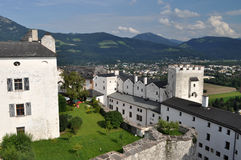 Salzburg, Austria. Salzburg (literally: Salt Fortress) is the fourth-largest city in Austria and the capital of the federal state of Salzburg. Salzburg's Old Stock Photo
