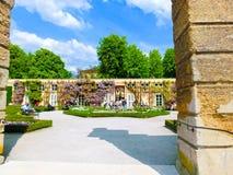 Salzburg Austria, Maj, - 01, 2017: Część piękny Mirabell uprawia ogródek w Salzburg Zdjęcia Stock