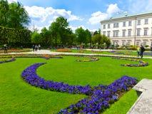 Salzburg Austria, Maj, - 01, 2017: Część piękny Mirabell uprawia ogródek w Salzburg Obraz Stock