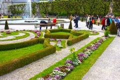 Salzburg Austria, Maj, - 01, 2017: Część piękny Mirabell uprawia ogródek w Salzburg Zdjęcia Royalty Free