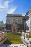 Salzburg Austria, Maj, - 01, 2017: Horsepond przy Herbert Von Karajan Platz w Salzburg, Austria Obraz Royalty Free