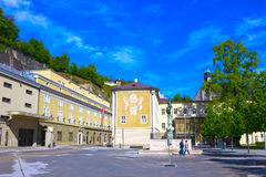 Salzburg Austria, Maj, - 01, 2017: Salzburg Uniwersytecka fasada w Austria Obraz Royalty Free