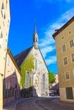 Salzburg Austria, Maj, - 01, 2017: Starzy budynki w Starym Grodzkim Salzburg Obraz Stock