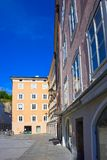 Salzburg Austria, Maj, - 01, 2017: Starzy domy w Salzburg, Austria Fotografia Royalty Free