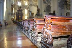 Salzburg Austria, Maj, - 01, 2017: Wnętrze Salzburg katedra - szczegóły Zdjęcie Stock