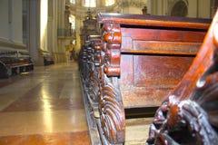 Salzburg Austria, Maj, - 01, 2017: Wnętrze Salzburg katedra - szczegóły Zdjęcia Royalty Free
