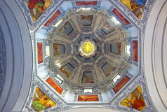 Salzburg Austria, Maj, - 01, 2017: Wnętrze Salzburg katedra - szczegóły Fotografia Royalty Free