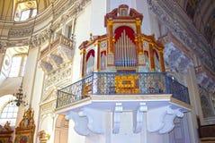 Salzburg Austria, Maj, - 01, 2017: Wnętrze Salzburg katedra - szczegóły Obraz Stock
