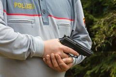 SALZBURG, AUSTRIA - March 26, 2017 - austria federal police with Stock Image
