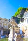 Salzburg, Austria - May 01, 2017: The Horsepond at the Herbert von Karajan Platz in Salzburg, Austria. royalty free stock images