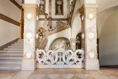 Schloss Mirabell Palace, Salzburg. SALZBURG, AUSTRIA - MAY 18, 2017: Mirabell Palace or Schloss Mirabell interior in Salzburg city, Austria. Mirabell Palace with royalty free stock photography