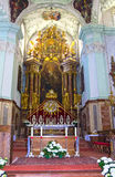 Salzburg, Austria - May 01, 2017: Saint Peter Abbey Church interior. Founded in 696 it is considered one of the oldest. Salzburg, Austria - May 01, 2017: Saint Stock Photography