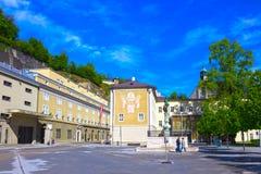 Salzburg, Austria - May 01, 2017: The Salzburg University facade in Austria royalty free stock image