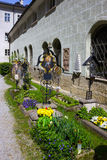 Salzburg, Austria - May 01, 2017: The St. Peter`s Cemetery at Salzburg stock image