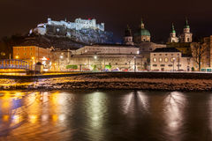 Salzburg Austria at night Royalty Free Stock Images