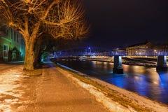 Salzburg Austria at night Stock Image