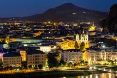 Salzburg Austria Night Royalty Free Stock Photo