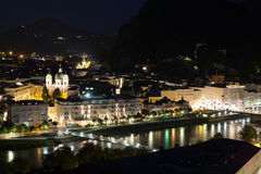 Salzburg Austria Night Royalty Free Stock Image