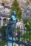 Petersfriedhof or St. Peter`s Cemetery in Salzburg. Austria royalty free stock photography