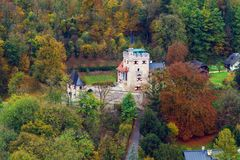 View on Freyschlossl - Roter Turm, Salzburg, Austria royalty free stock photography