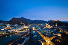 Salzburg, Austria, paisaje urbano Foto de archivo