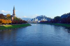 Salzburg, Austria – River Salzach Royalty Free Stock Image