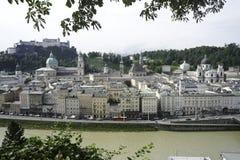 Salzburg, Austria riverfront Royalty Free Stock Image