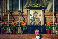 SALZBURG/AUSTRIA - 19. SEPTEMBER: Ansicht eines Altars in Salzburg C lizenzfreies stockbild